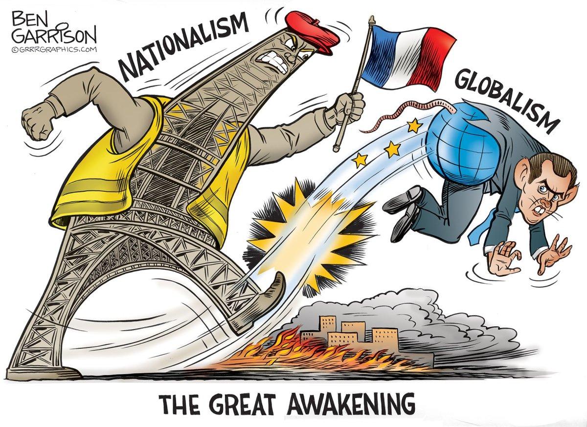 Les populistes de droite sont terrorisés par la nouvelle politique insensée de l'élite en matière d'immigration et par la destruction des vestiges de l'identité française. Les populistes de gauche sont scandalisés par la politique économique désastreuse des libéraux, qui ne défendent que les intérêts des grandes entreprises : Douguine et les gilets jaunes.