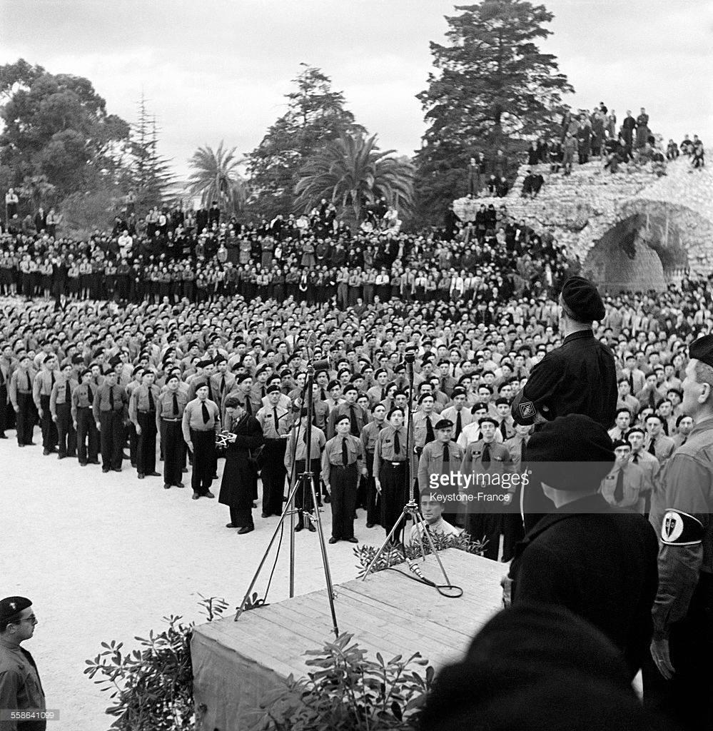 Nice 1942 : Rassemblement des légionnaires du nouveau Service d